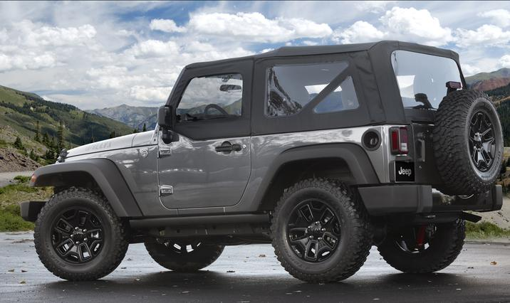 2018 Jeep Wrangler JK Gray Exterior Back Side View