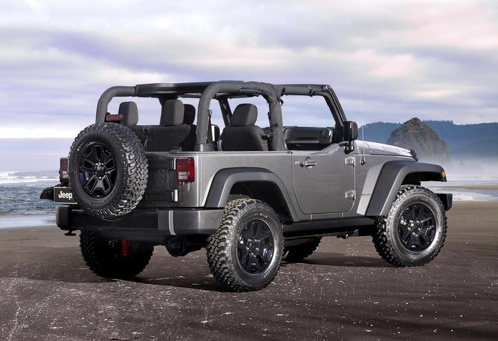 2018 Jeep Wrangler JK Gray Exterior Rear View