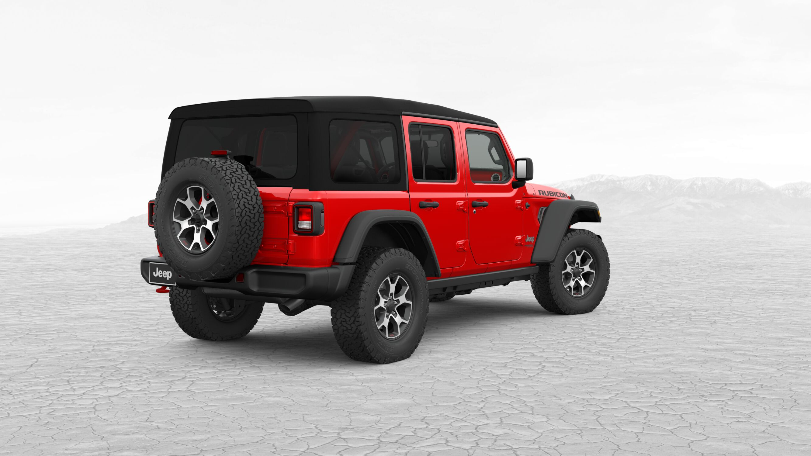 2018 Jeep Wrangler JL Unlimited Rubicon Red Exterior Rear