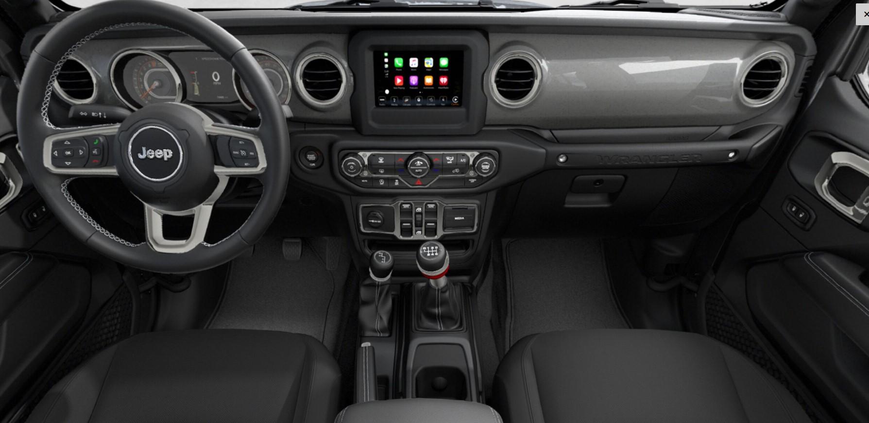 2018 Jeep Wrangler JL Unlimited Sahara Gray Interior