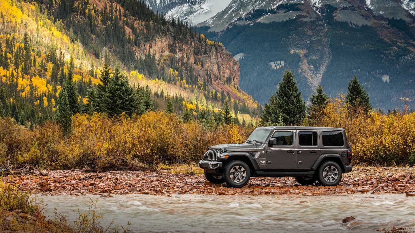 2018 Jeep Wrangler Unlimited Jl Rocky Top Chrysler Dodge Rear Suspension As Well Front Parts Diagram Gray Exterior