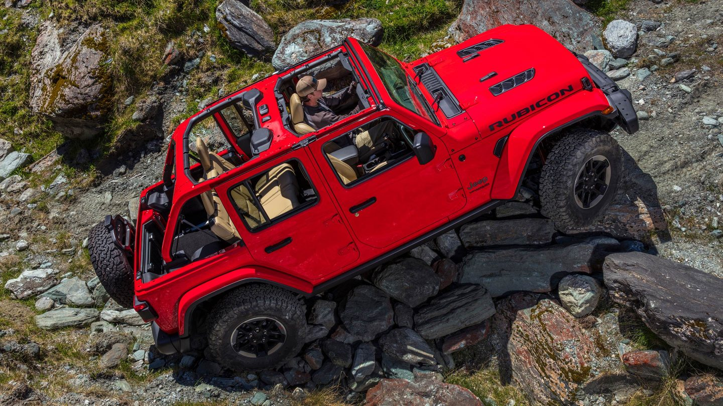 2018 Jeep Wrangler JL Unlimited Red Off Road Rear Exterior