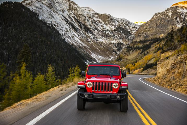 2018 Jeep Wrangler JL Red Exterior Front View