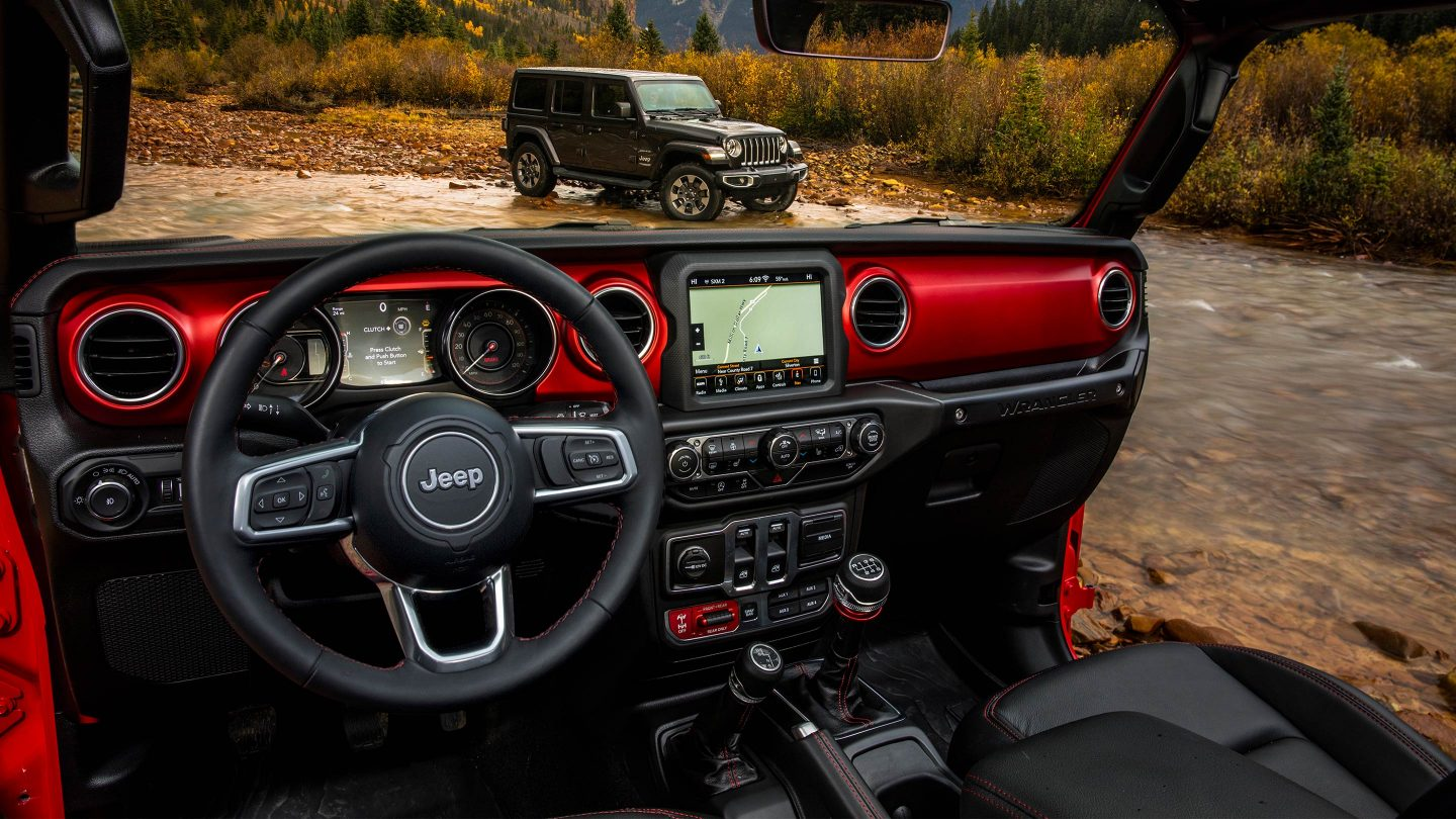 2018 Jeep Wrangler JL Unlimited Red Interior Doors Off