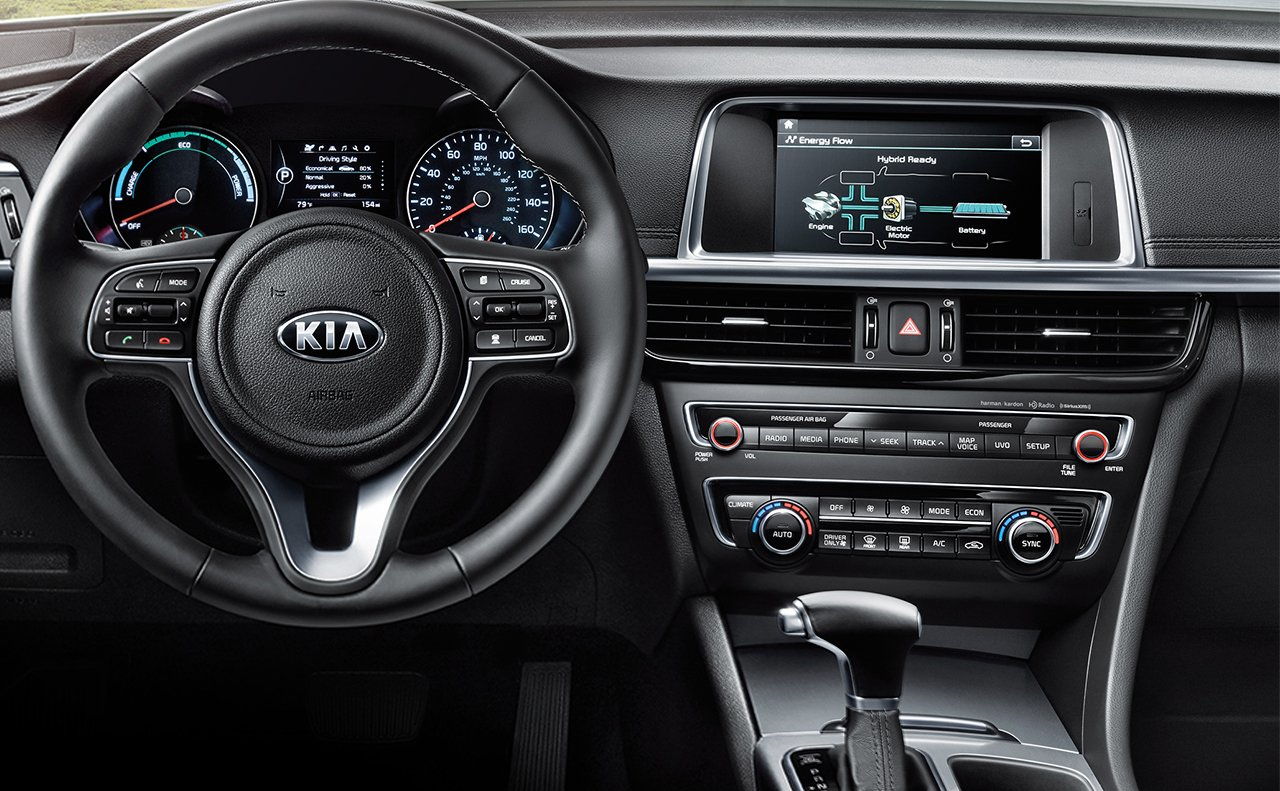 2018 Kia Optima Plug-In Hybrid Front Dashboard Interior