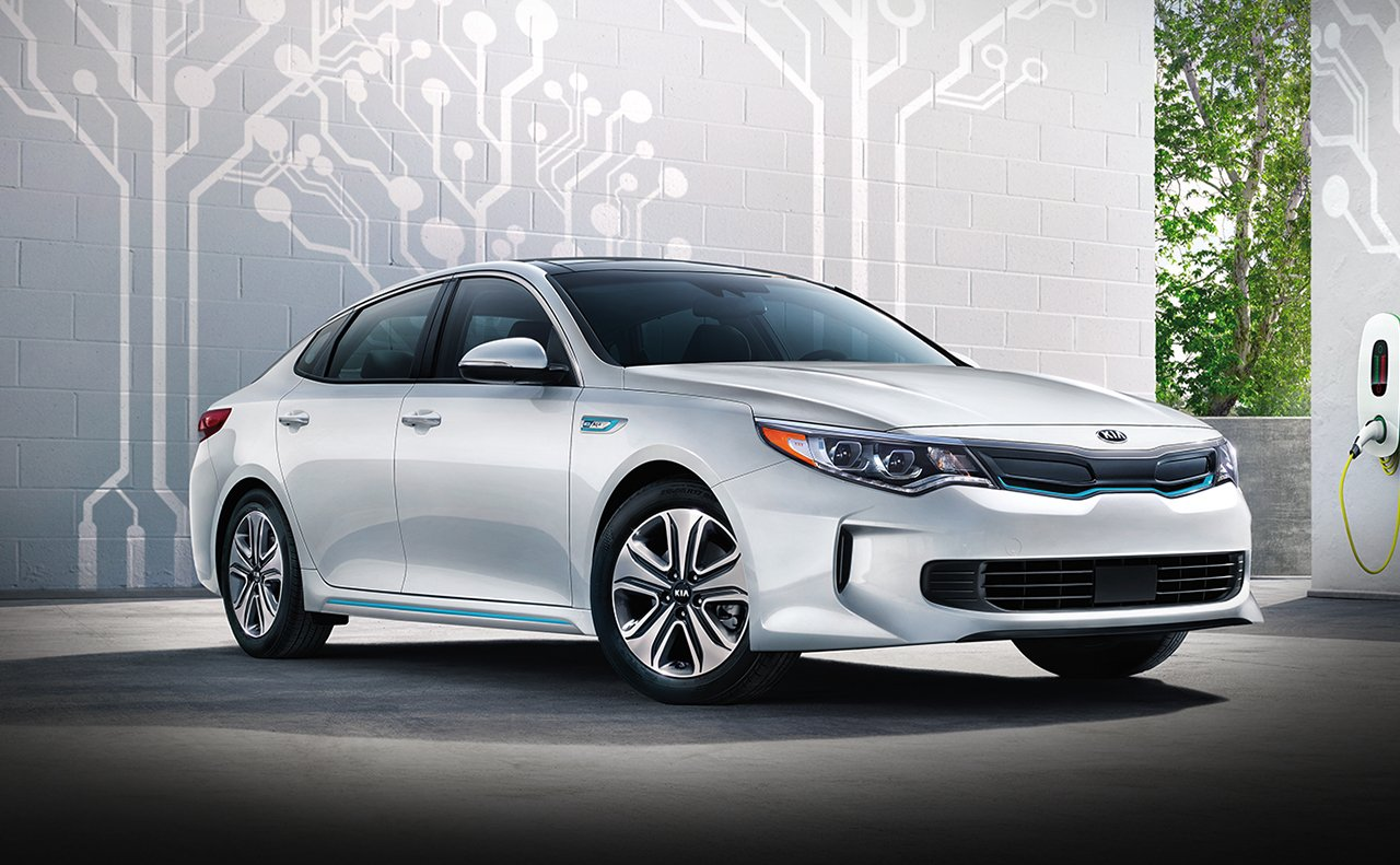 2018 Kia Optima Plug-In Hybrid Front White Exterior