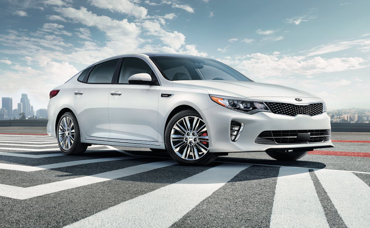 2018 Kia Optima Front White Exterior