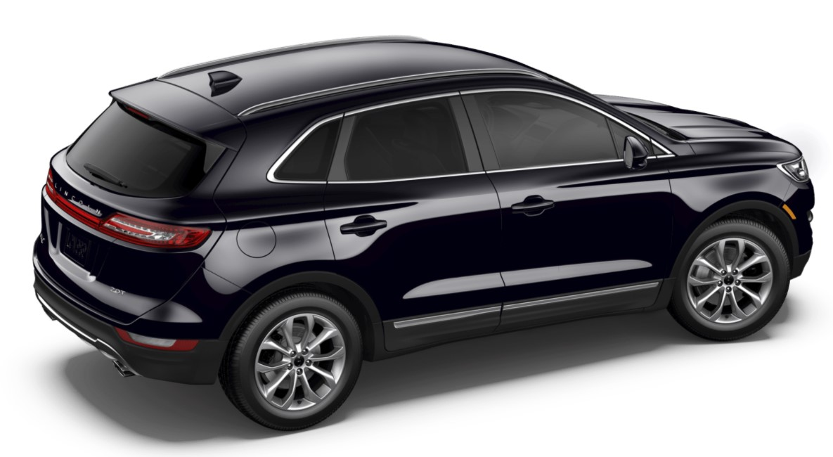 2018 Lincoln MKC Select Black Exterior Side Rear View