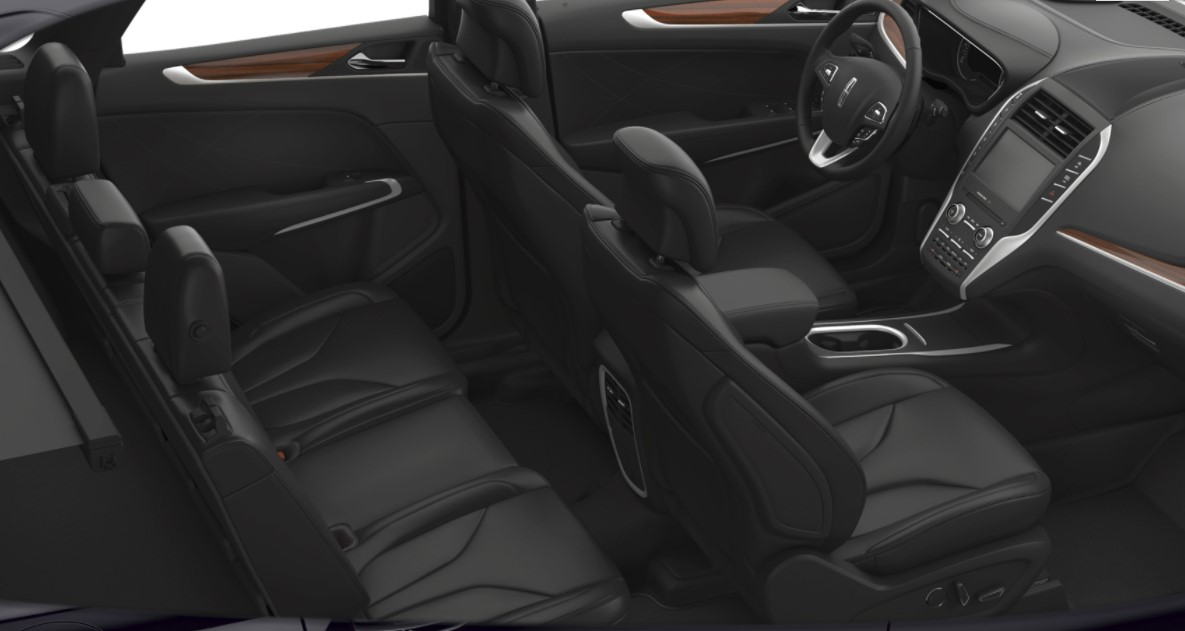 2018 Lincoln MKC Select Black Interior Seating