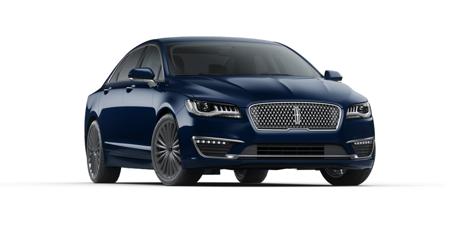 2018 Lincoln MKZ Hybrid Reserve Blue Exterior Front View