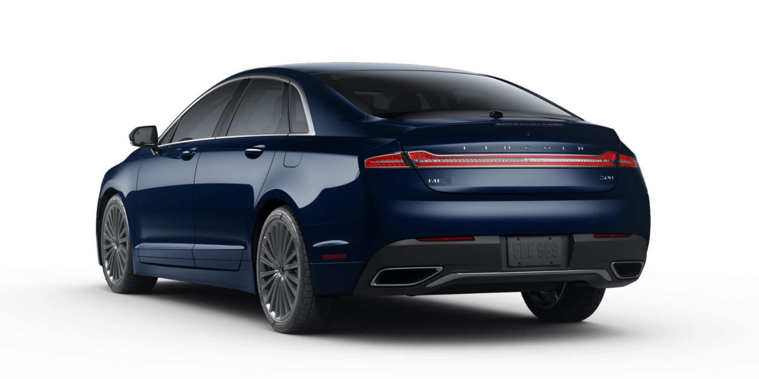 2018 Lincoln MKZ Hybrid Reserve Blue Exterior Rear View