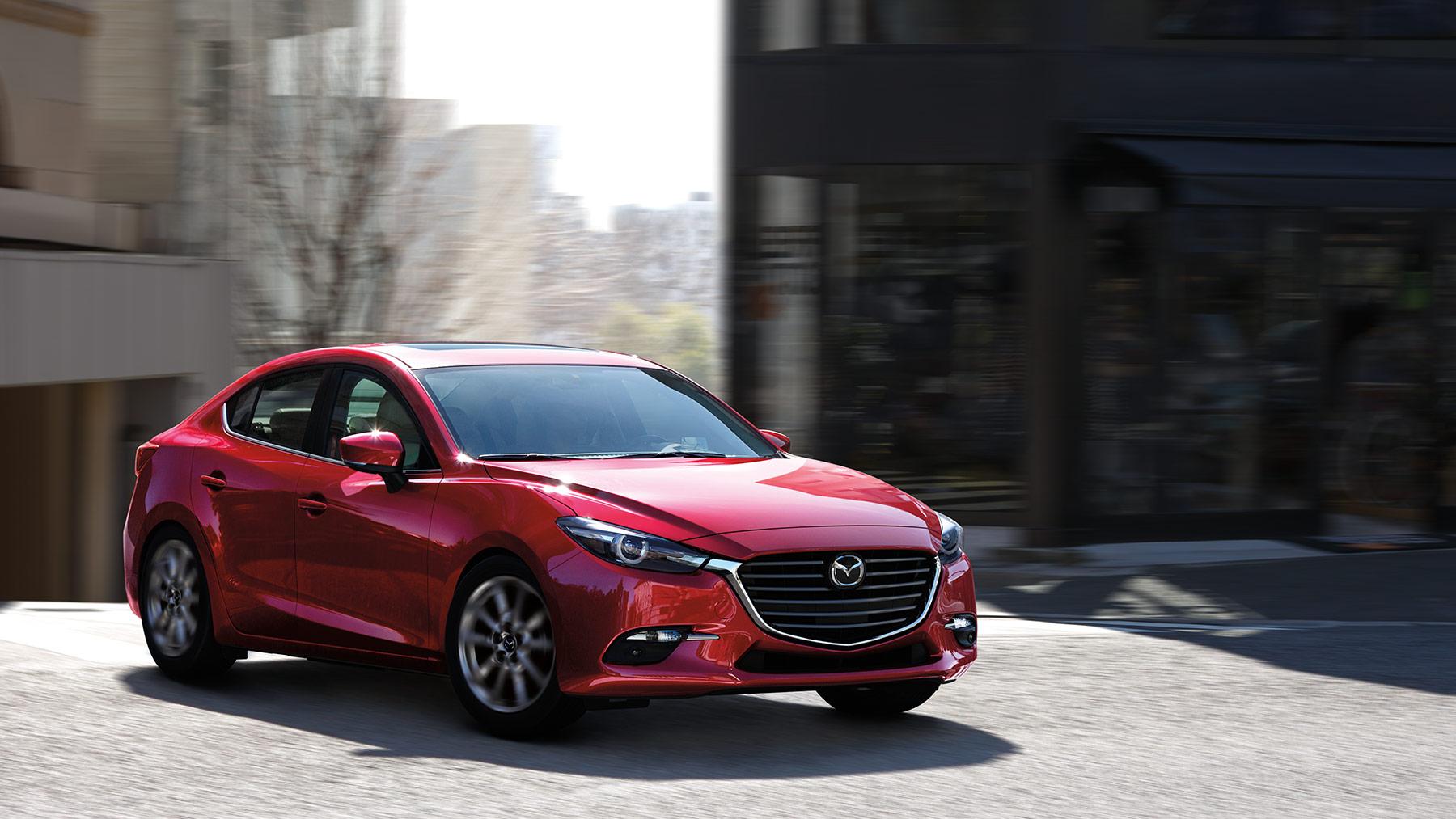 2018 Mazda3 4-door Front Red Exterior