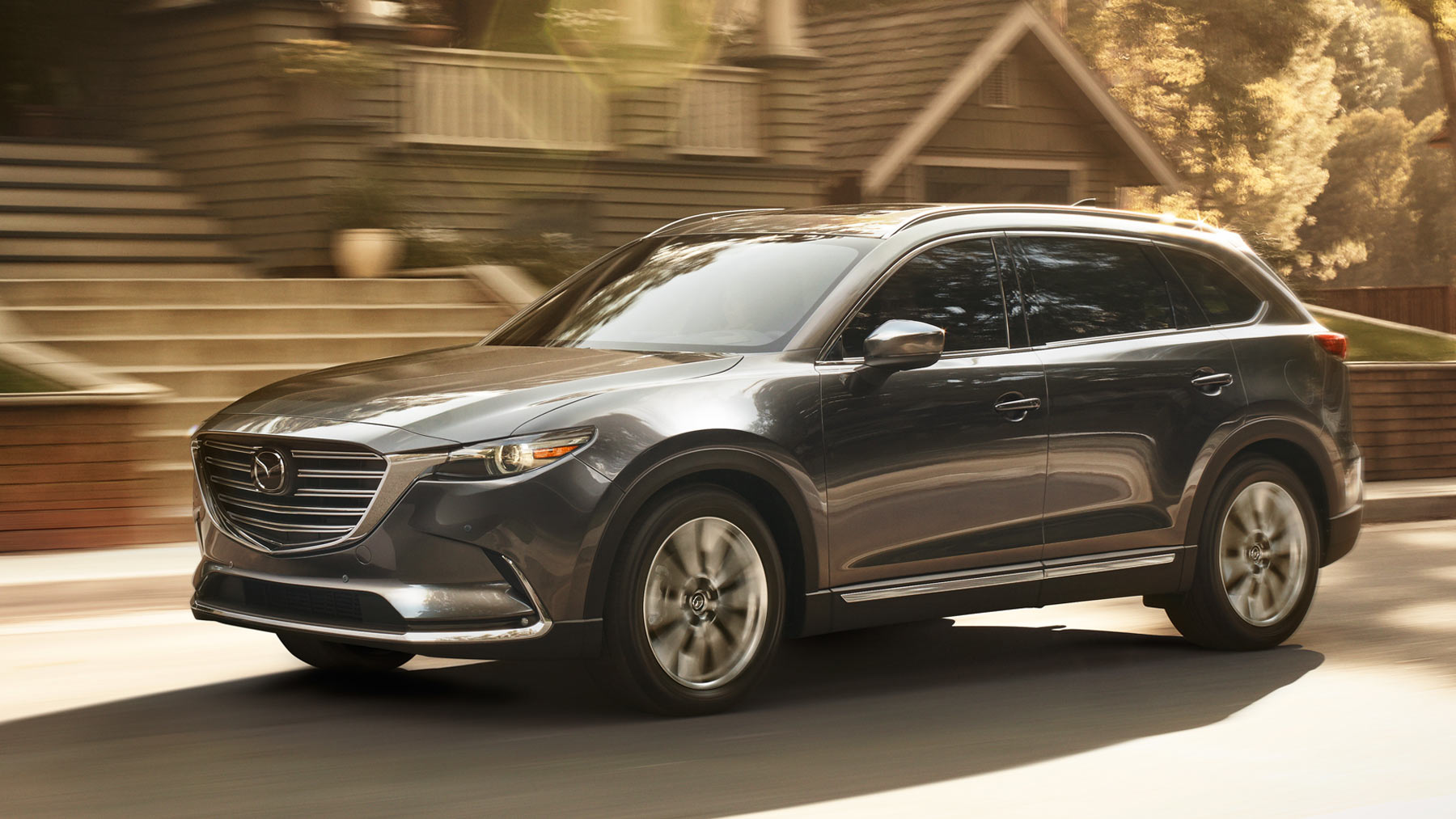 2018 Mazda CX-9 Gray Exterior Side View Driving