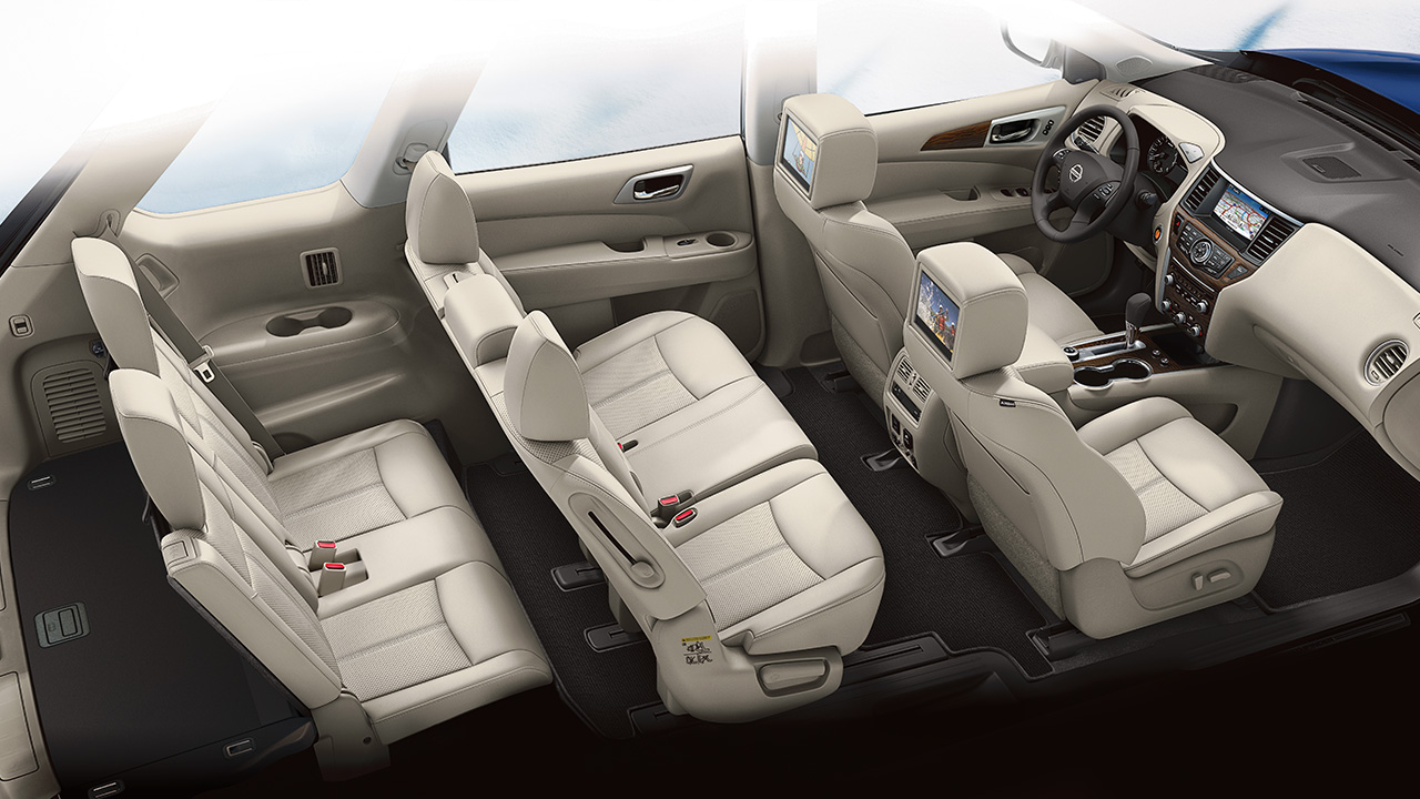2018 Nissan Pathfinder Interior Seating Side View