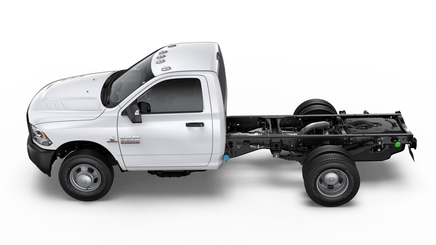 2018 Ram 3500 Chassis Cab White Exterior Side View