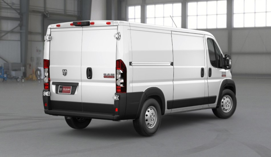 2018 Ram ProMaster 1500 White Exterior Rear View