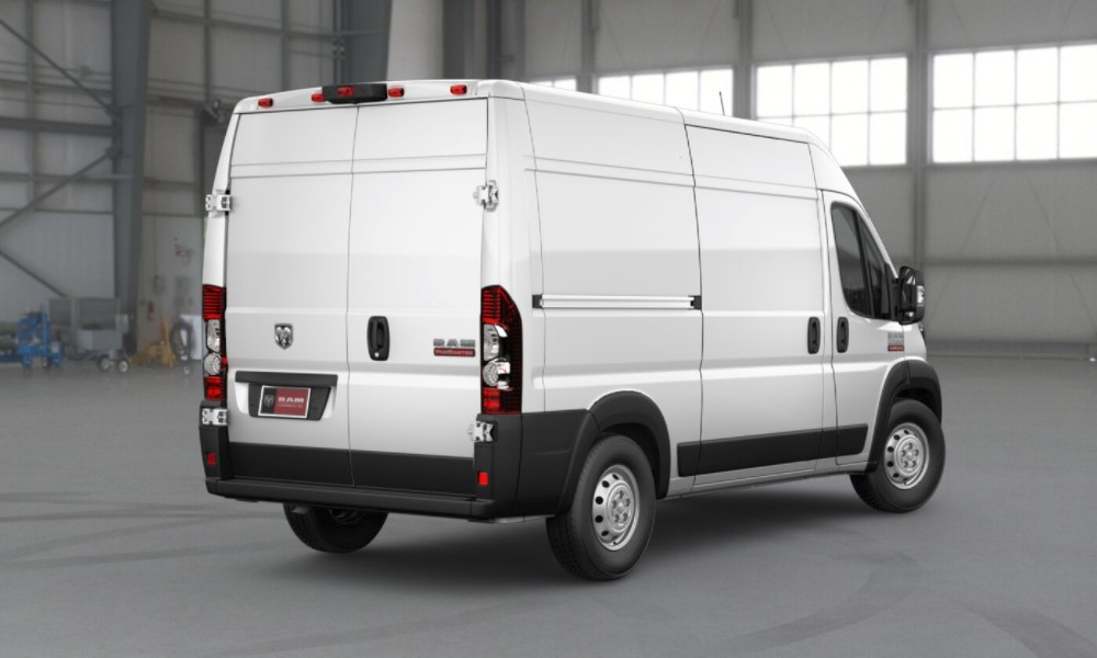 2018 Ram ProMaster 2500 White Exterior Rear View