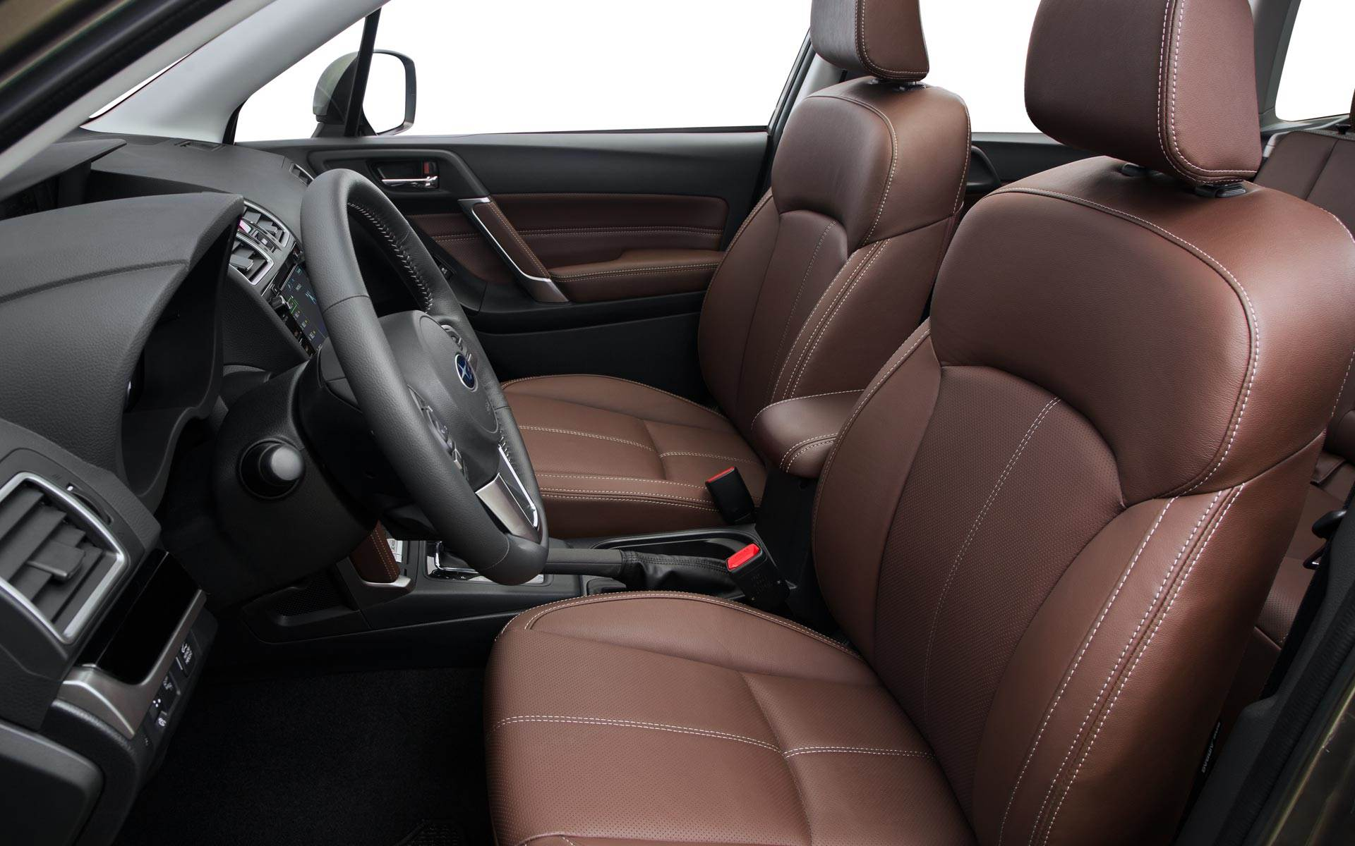 2018 Subaru Forester Black Leather Front Interior