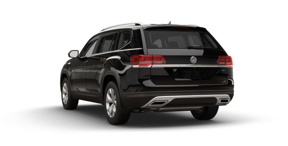2018 Volkswagen Atlas S Rear Black Exterior