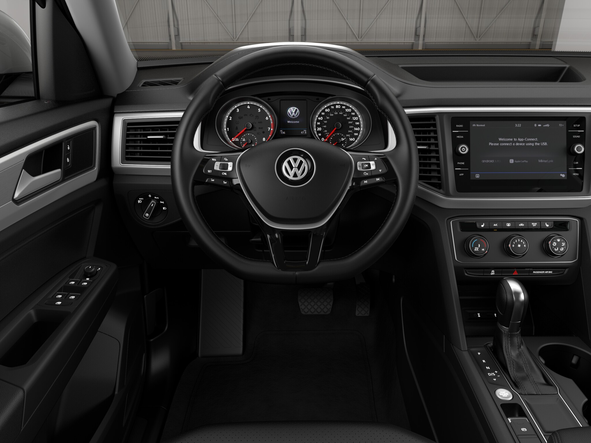 2018 Volkswagen Atlas SE with 4Motion Black Interior