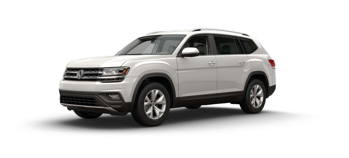 2018 Volkswagen Atlas SE with 4Motion Front White Exterior