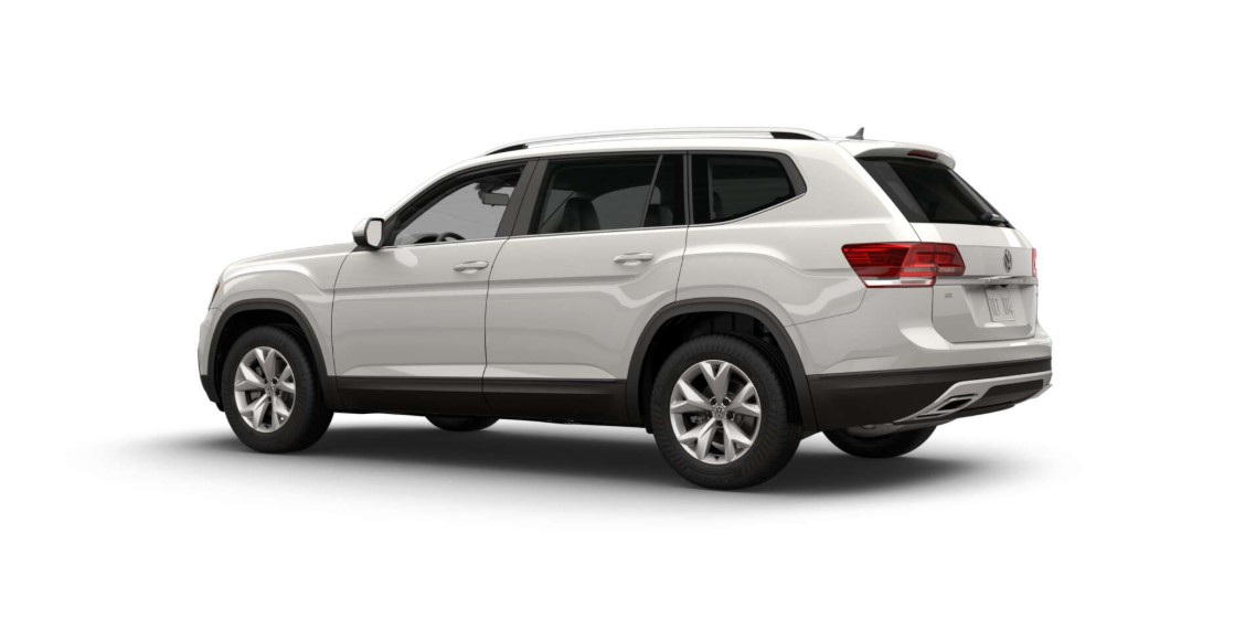 2018 Volkswagen Atlas SE with 4Motion Rear White Exterior