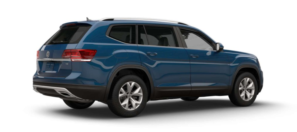 2018 Volkswagen Atlas SE Rear Blue Exterior