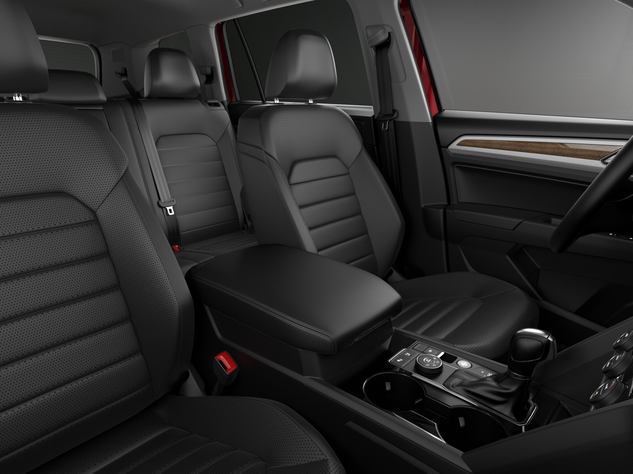 2018 Volkswagen Atlas SEL Preimum Black Leather Interior Picture