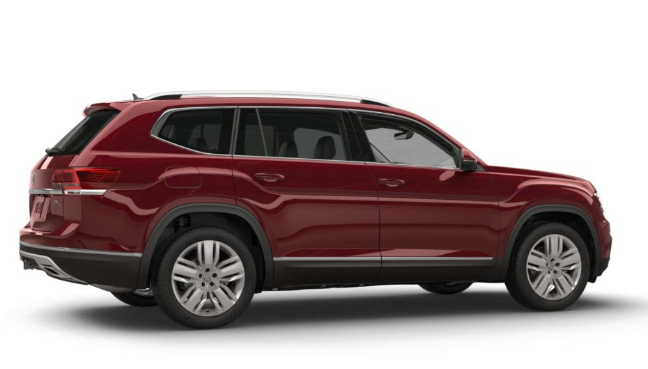 2018 Volkswagen Atlas SEL Premium Fortana Red Side Exterior Picture