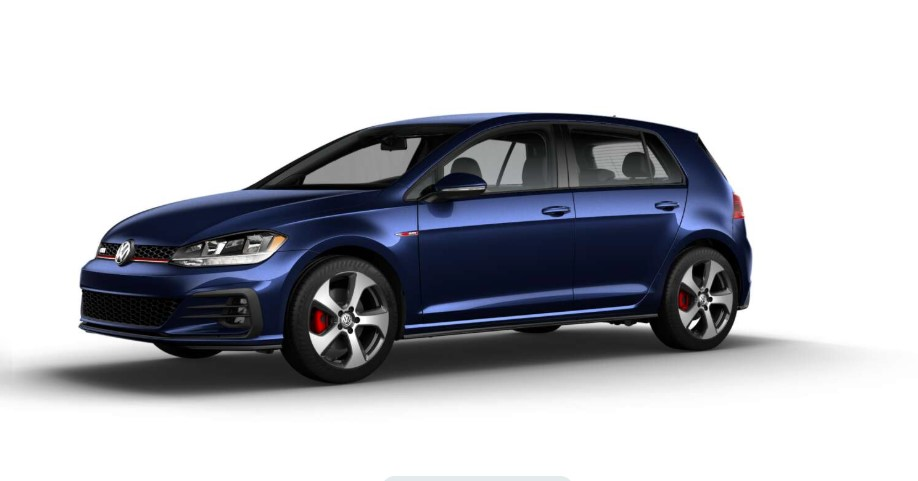2018 Volkswagen Golf GTI S Front Blue Exterior Picture