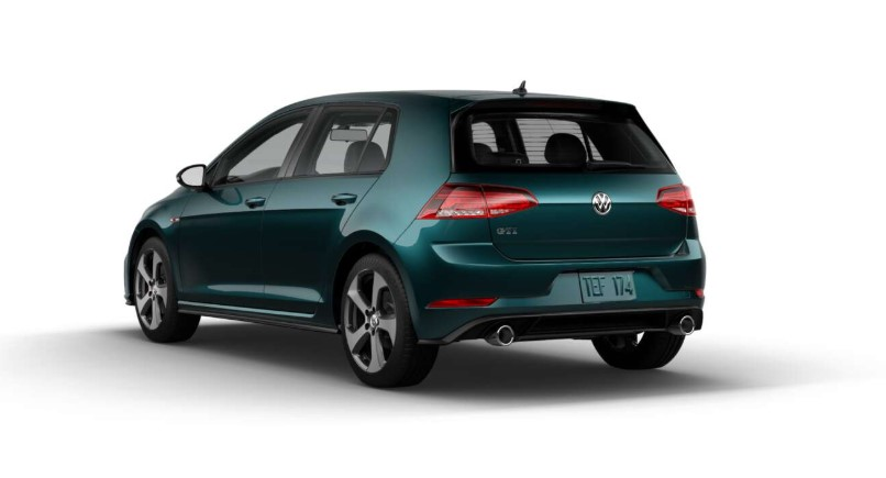 2018 Volkswagen Golf GTI S Rear Green Exterior Picture