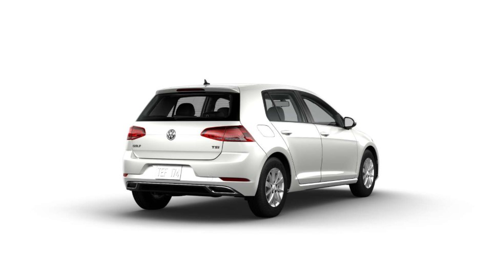 2018 Volkswagen Golf S Rear White Exterior