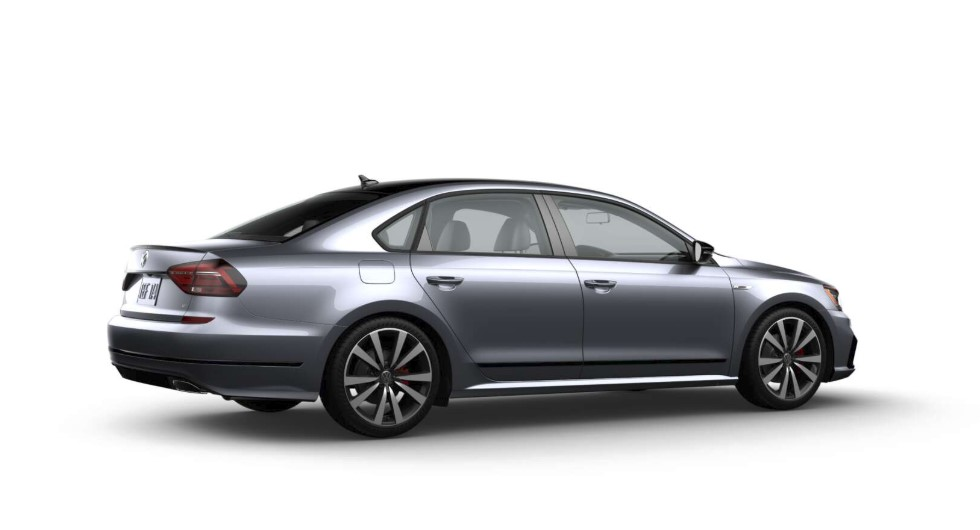 2018 Volkswagen Passat V6 GT Platinum Gray Side and Rear Exterior Picture