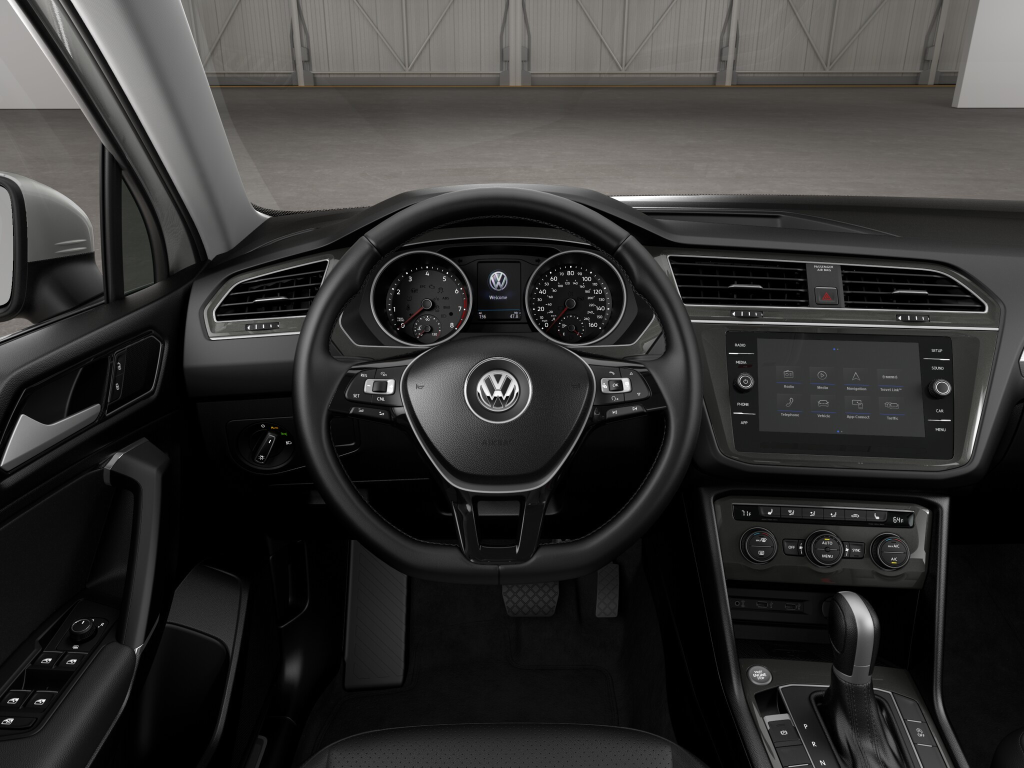 2018 Volkswagen Tiguan SE 4Motion Black Interior