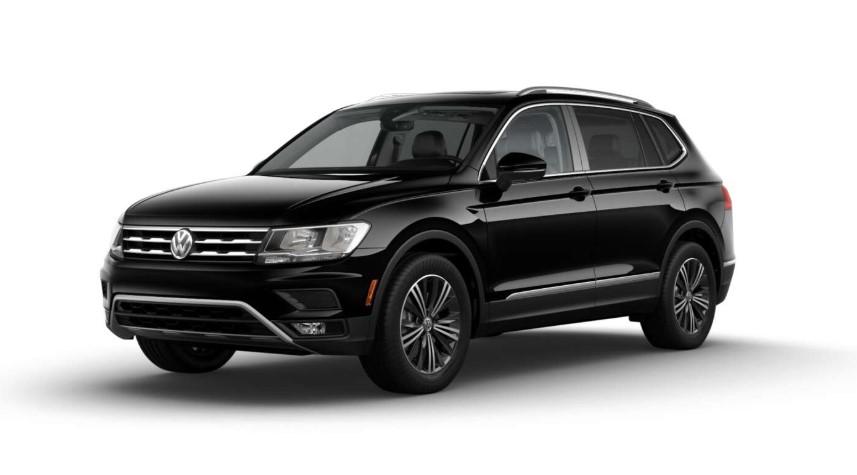 2018 Volkswagen Tiguan SEL Premium BLack Exterior Front Picture