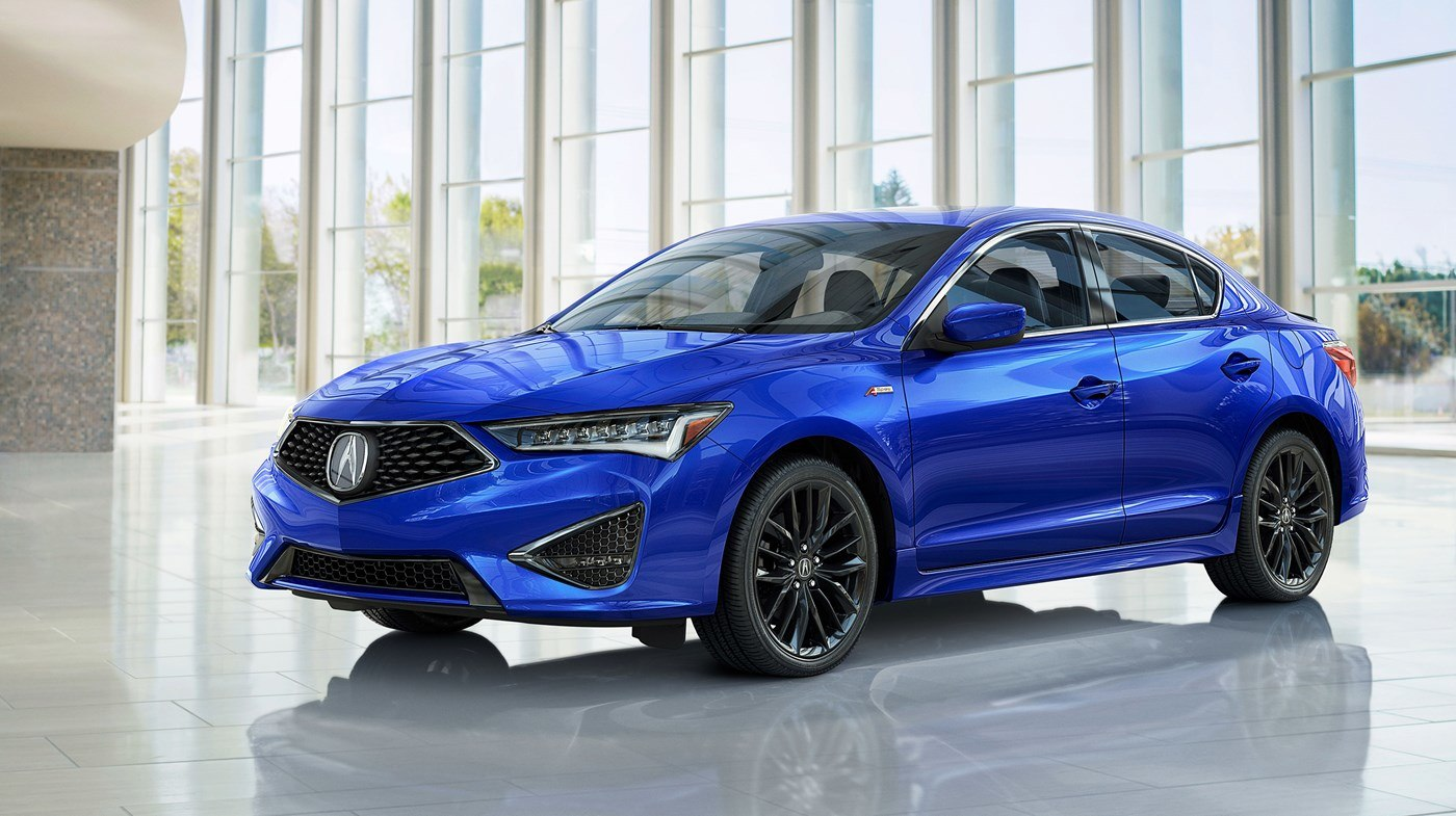 2019 Acura ILX Front Blue Exterior