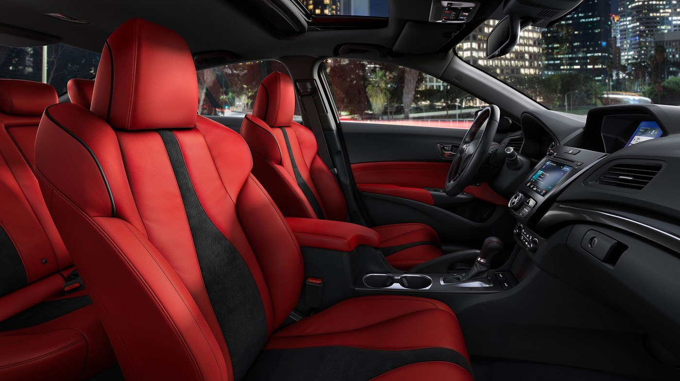 2019 Acura ILX Front Red and Black Interior