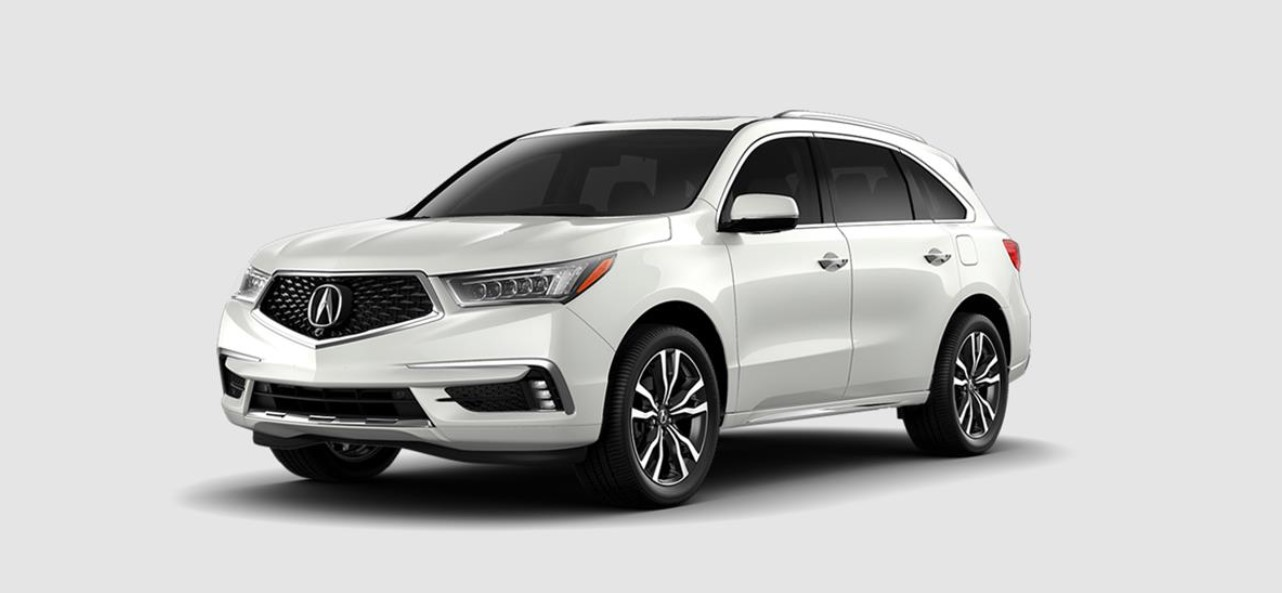 2019 Acura MDX with Advance Package Front White Exterior