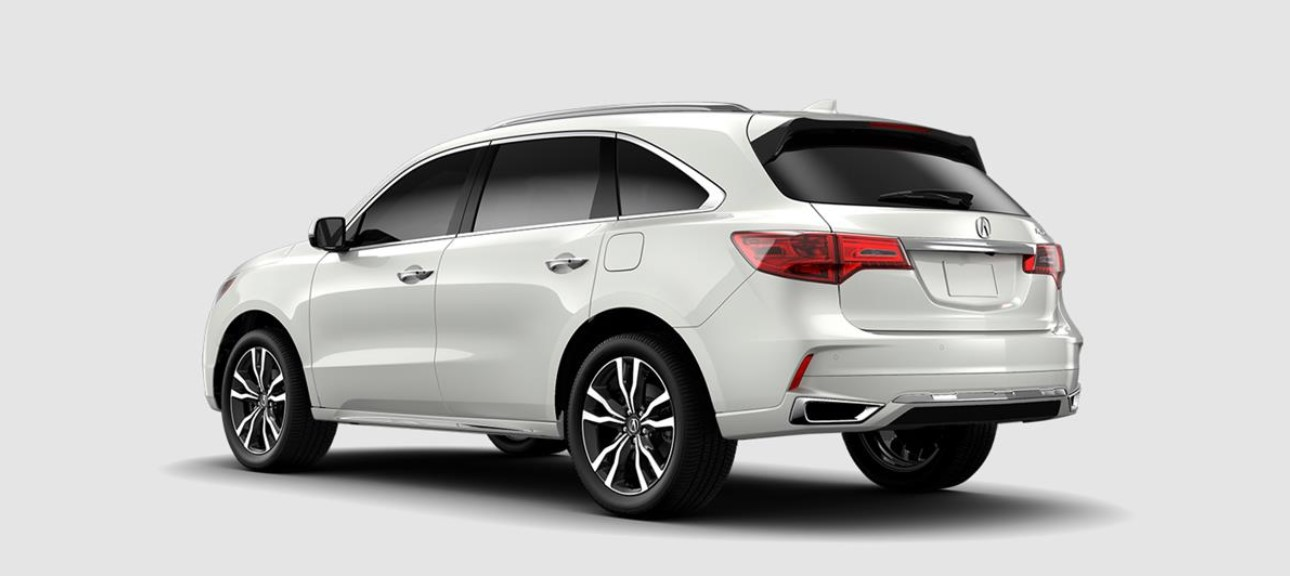 2019 Acura MDX with Advance Package Rear White Exterior