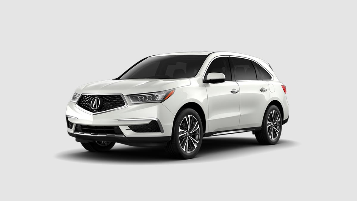 2019 Acura MDX with Technology Package White Exterior Front View Picture