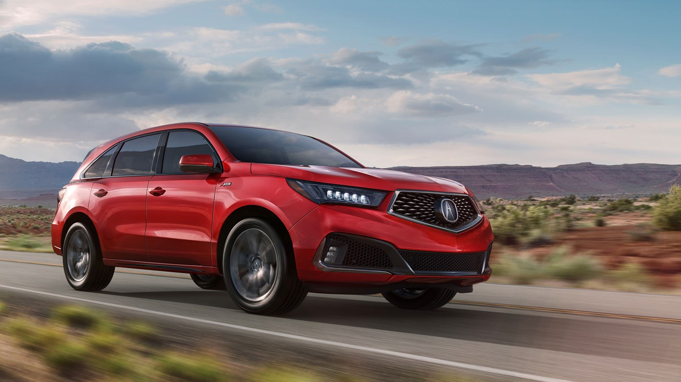 2019 Acura MDX Red Exterior Front View Picture