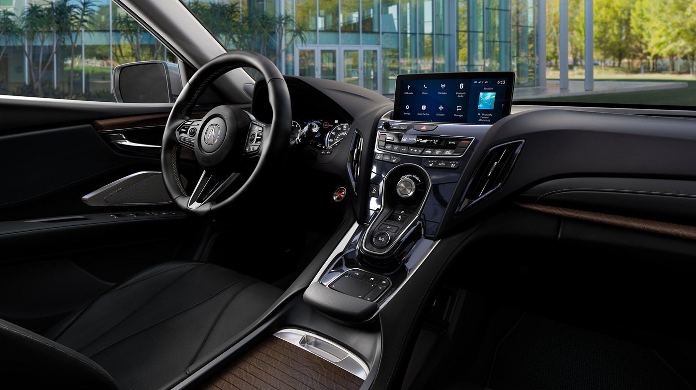 2019 Acura RDX with Advance Package Ebony Interior Dashboard and Center Console Picture