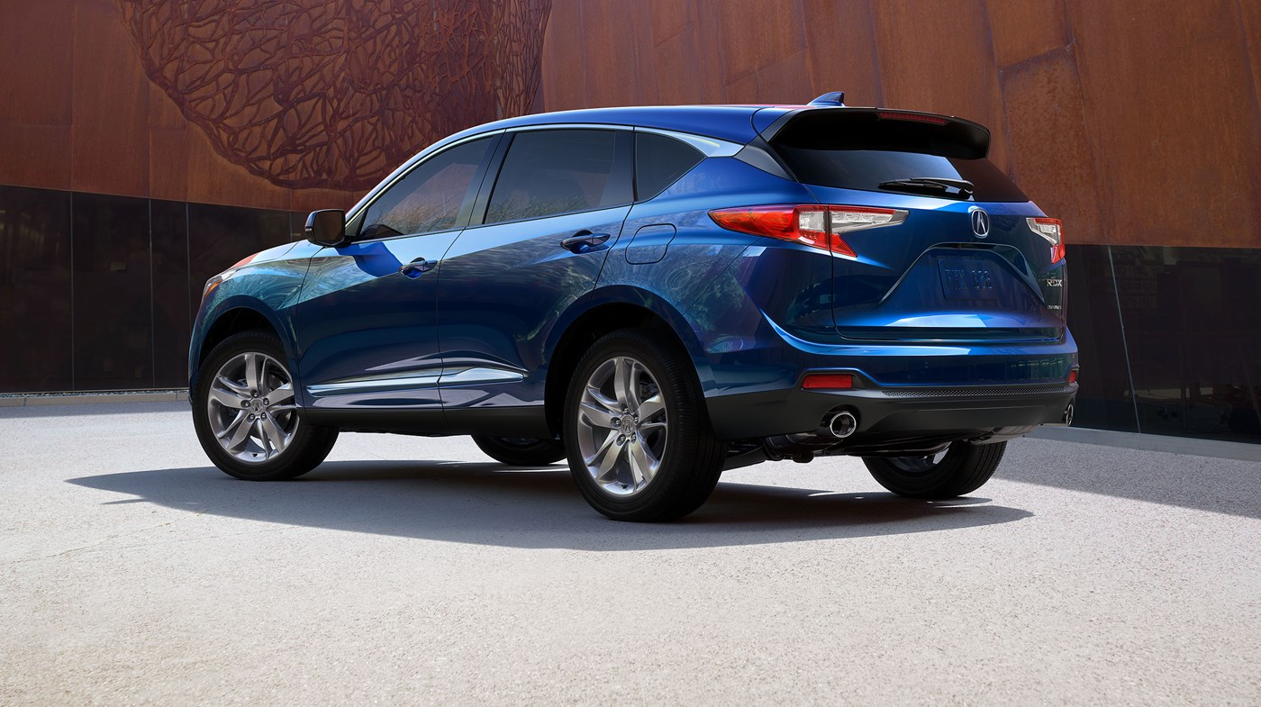 2019 Acura RDX with Advance Package Fathom Blue Pearl Rear Exterior Picture