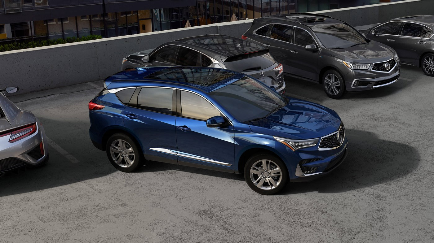 2019 Acura RDX Blue Pearl Side Exterior Picture