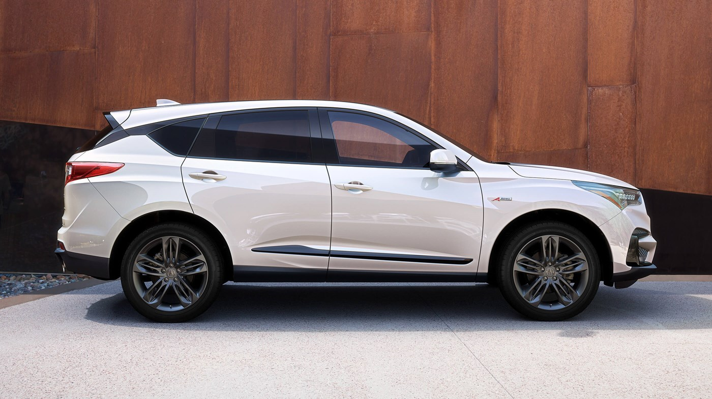 2019 Acura RDX Diamond Pearl Side Profile Exterior Picture