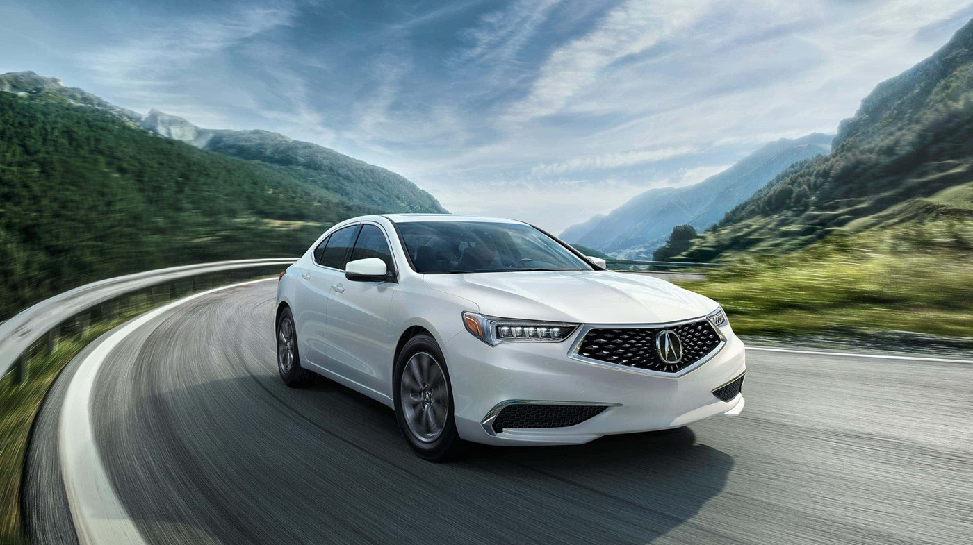 2019 Acura TLX Driving White Exterior