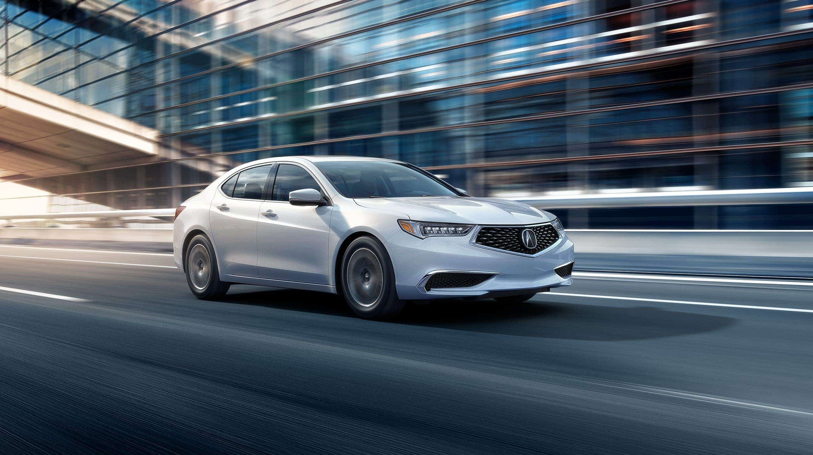 2019 Acura TLX Front White Exterior