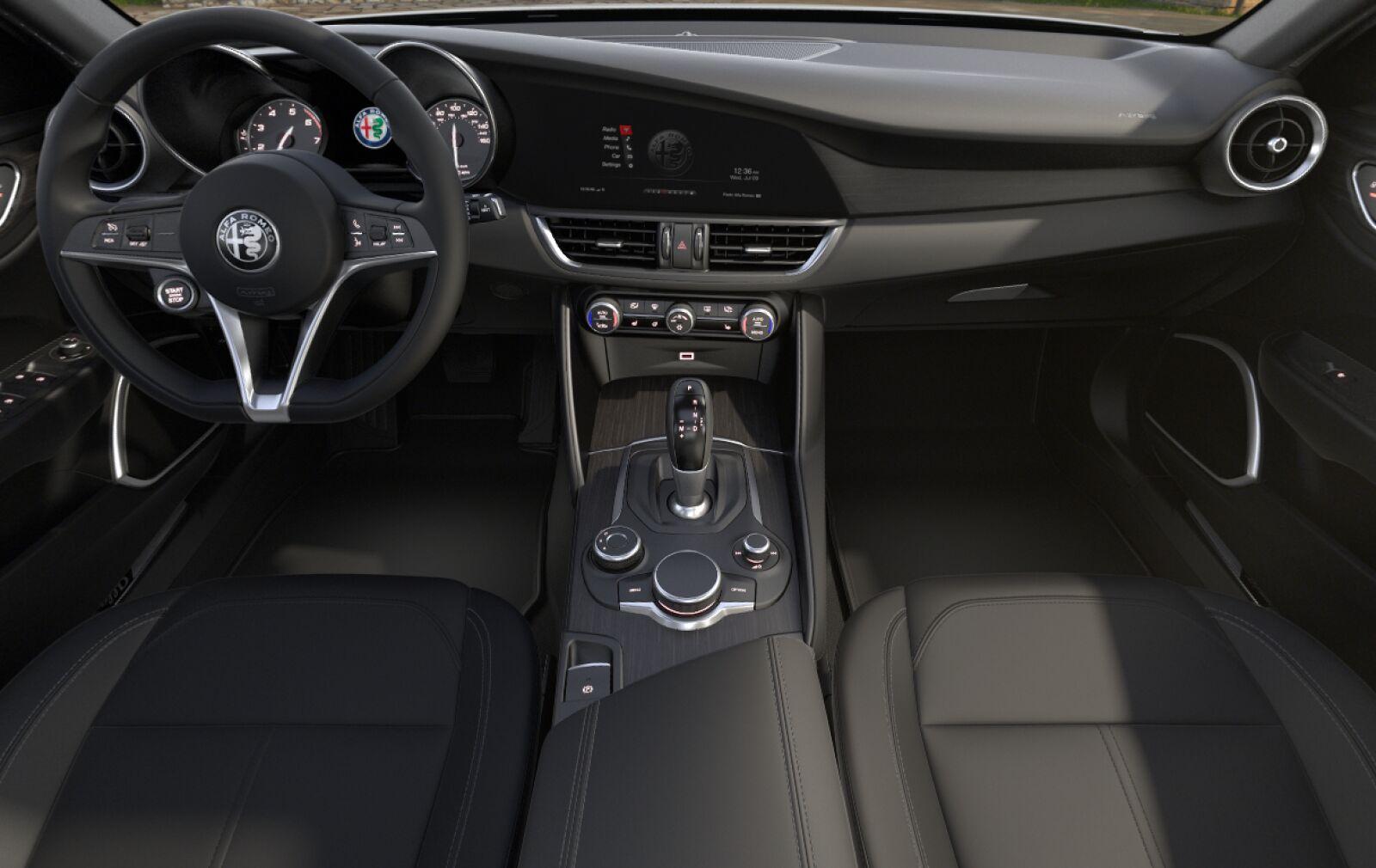 2019 Alfa Romeo Giulia Ti RWD Black Front Interior Picture
