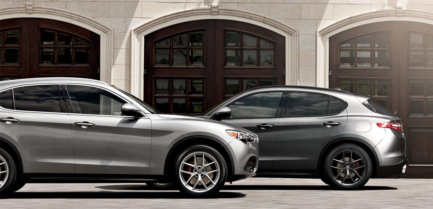 2019 Alfa Romeo Stelvio Silver and Gray Exterior Side Views Picture