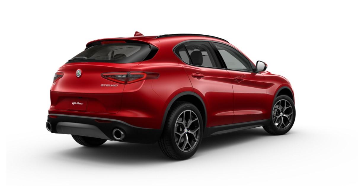 2019 Alfa Romeo Stelvio Ti AWD Rear Red Exterior